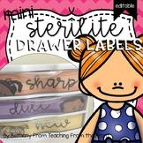 Sterilite Mini Drawer Labels   Editable