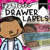 Sterilite Drawer Labels   Editable
