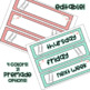 Teal Yellow Gray Sterilite Drawer Labels Editable
