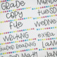 Sterilite Drawer Labels- Chalk and Bright- Editable