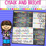 Sterilite Drawer Labels- Chalk and Bright- Editable