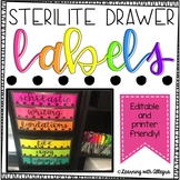 Sterilite Drawer Labels - Editable {Black and White}