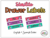 Sterilite Drawer Labels English & Spanish Freebie