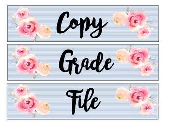Sterilite Drawer Labels: Floral Edition