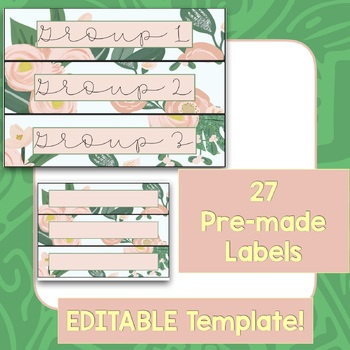 Sterilite Drawer Labels - Floral theme EDITABLE