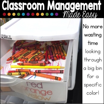 Sterilite Drawer Labels For Crayon, Colored Pencil and Marker Organization