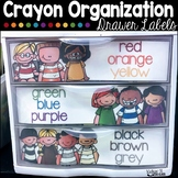 Sterilite Drawer Labels For Crayon, Colored Pencil and Mar