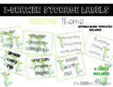 Sterilite Drawer Labels- Cactus Themed EDITABLE