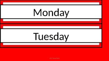 Sterilite Drawer Labels - Red & White