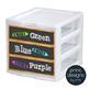 Sterilite Drawer Labels - SORT + SUBJECT - BLACK Chalkboard Design Style