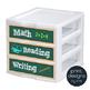 Sterilite Drawer Labels - SORT + SUBJECT - Chalkboard Design Style