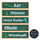 Sterilite Drawer Labels - SORT and SUBJECT - Chalkboard De