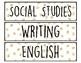 Sterilite Drawer Labels for Teacher's Toolbox (GOLD GLITTER DOTS)