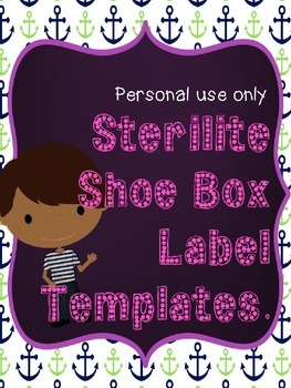 Sterilite Lable Template.