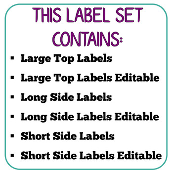 Sterilite Latch Bin Labels
