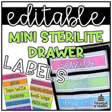 Sterilite Mini Drawer Labels | EDITABLE