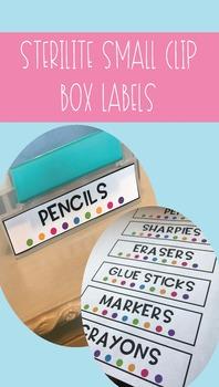 Sterilite Small Clip Box Labels EDITABLE