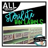 Sterilite Small & Large Editable Bin Labels