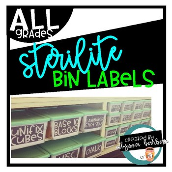 Sterilite Small & Large Editable Bin Labels