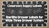 Sterilite Three Drawer (Wide) Labels