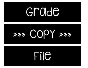 Sterilite Drawer Labels -- Black and White