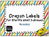 Sterlite Crayon Labels