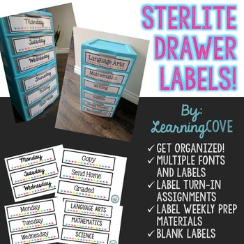Sterlite Drawer Labels!