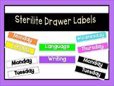 Sterlite Drawer Labels