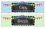 Sterlite Drawer Labels (Copy, Grade, File)
