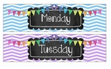 Sterilite Drawer Labels (Days of the Week)