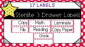 Sterlite Drawer Labels Red and White
