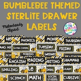 Sterlite Drawer Labels Subjects Bumblebee Bee Theme