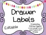 Sterilite Editable Drawer Labels