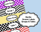 Sterlite Labels: Chevron and Polka Dot Table Groups