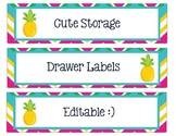 Sterlite Storage Drawer Liners Pineapple Theme Editable