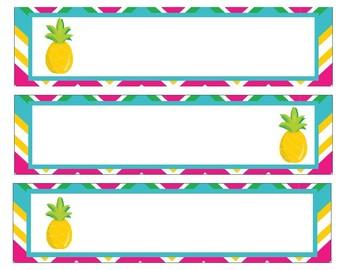 Sterlite Storage Drawer Liners Pineapple Theme Editable
