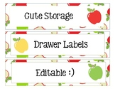 Sterlite Storage Drawers Apple Theme EDITABLE