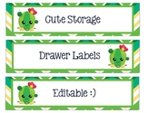 Sterlite Storage Drawers Cactus Theme Editable