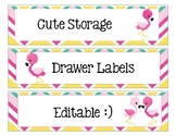 Sterlite Storage Drawers Flamingo Theme EDITABLE
