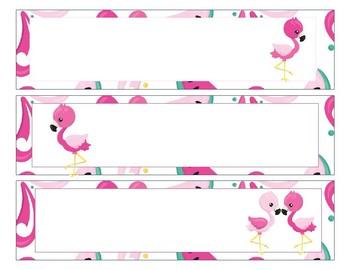 Sterlite Storage Drawers Flamingo Theme EDITABLE
