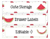 Sterlite Storage Drawers Watermelon Theme EDITABLE