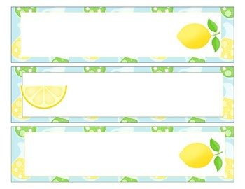 Sterlite Storage Drawers Lemon Theme EDITABLE