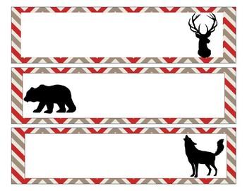 Sterlite Storage Drawers Lumberjack or Camping Theme EDITABLE