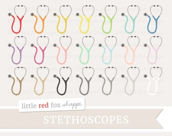 Stethoscope Clipart; Medical, Doctor, Nurse