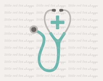 Stethoscope Clipart; Medical, Doctor, Nurse