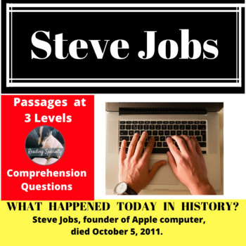 Steve Jobs, Differentiated Reading Passage, October 5