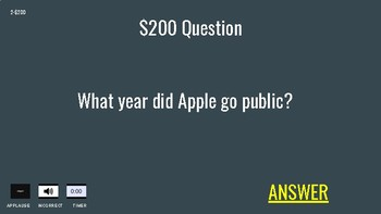 Steve Jobs Apple Jeopardy (Google Slides)