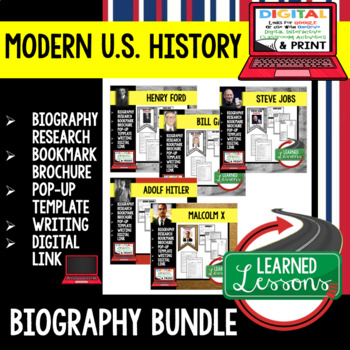 Steve Jobs Biography Research, Bookmark Brochure, Pop-Up, Writing, Google