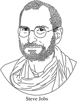 Steve Jobs Clip Art, Coloring Page, or Mini-Poster