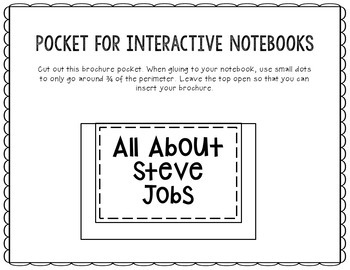 Steve Jobs - Inventor Research Project Interactive Notebook, Scientist